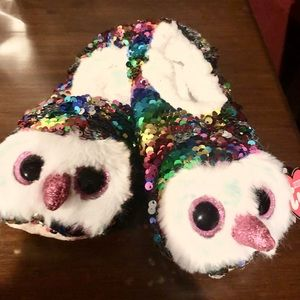 Ty Fashion Slippers Sz L 4/6 sequined